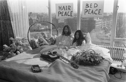 John and Yoko - bed in