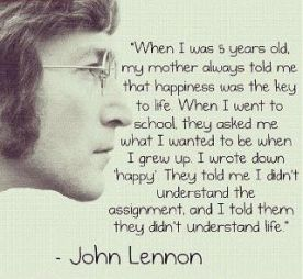 John lennon happiness statement