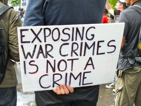 exposing war crimes is not a crime