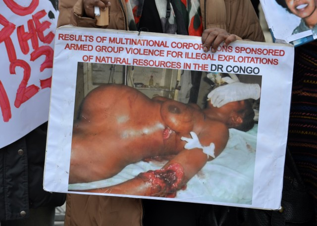 photo of mutilated pregnant woman