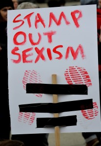 Stamp out sexism poster