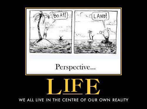we all live in the centre of our own reality ( used)