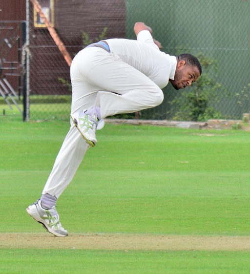 bowler giving his all