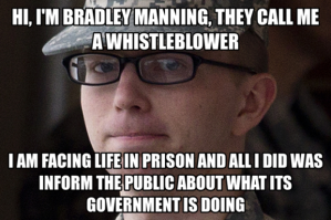 Bradley manning facing prison for informing the public about what it's government is doing