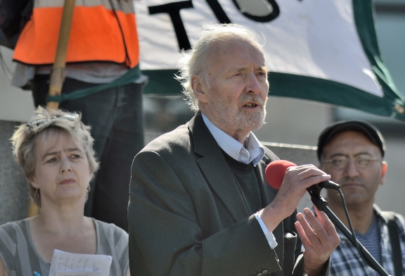 Tony Benn at the NO War in Syria march in Lndon